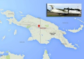 Indonesia: aereo scomparso, su zona maltempo e nebbia  Contatti persi con Atr42 pochi minuti prima dell'atterraggio  >  (ANSA-AP) - GIAKARTA, 16 AGO - L'ATR42-300 della Trigana airlines scomparso oggi ha incontrato nell'ultima parte del volo una zona di forte maltempo con pioggia, vento e fitta nebbia nei pressi di Oksibil, la sua destinazione. Il contatto è stato persoLo hanno detto i servizi di soccorso indonesiano. La regione montuosa nei pressi della città, al confine con Papua Nuova Guinea, è coperta da una fitta giungla. (ANSA-AP)  NS/
