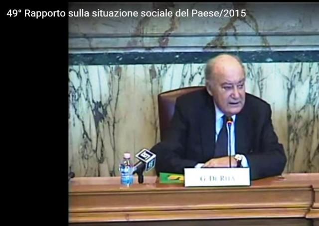 Giuseppe De Rita, Presidente Censis