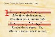Lauda Sion Salvatorem testo colmo di dottrina e di penetrante abilità letteraria