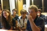 Lago del Turano;  i giovani atleti del Circolo Canottieri