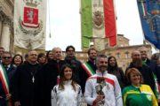 Pro pace et Europa Una; Papa Francesco benedice la fiaccola con Cassino, Subiaco e Norcia