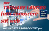 Per trovare lavoro fatti conoscere sul web con un Data Profile Entity, metti nella rete il tuo curriculum