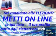 Novità per le elezioni, arriva il santino elettorale on line con il format Data Profile Entity