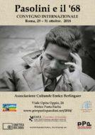 """""""Pasolini e il '68"""": un convegno internazionale al Centro Culturale Enrico Berlinguer"""